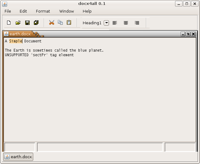 docx4all v0.1 screenshot